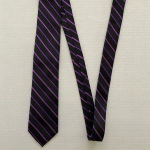 Ted Baker Black and Purple Tie